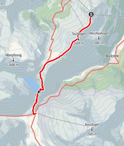 Karte / Bad Gastein: Zittrauer Tisch und Miesbichlscharte
