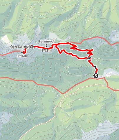 Karte / Klammspitze 1.924 m von Schloß Linderhof