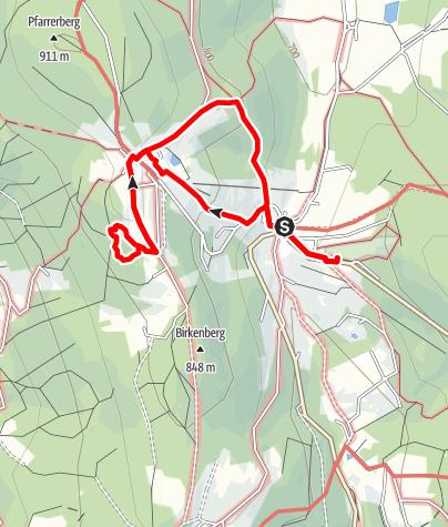 Karte / Zum Waldwipfelweg