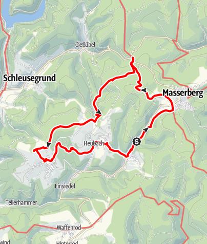 Karte / Durch die Gießübler Schweiz