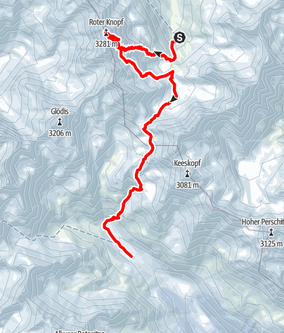 Map / Schober Skitourenrunde: Etappe 2 - Roter Knopf