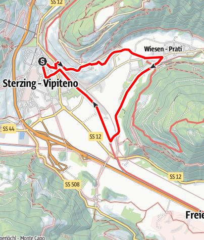 Karte / Von Sterzing nach Wiesen