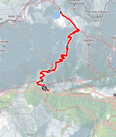 Map / To Tribulaunhütte Hut at Sandessee Lake in Fleres|Pflersch