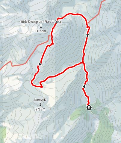 Karte / Von der Fane Alm zum Wilden See