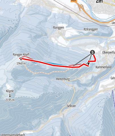 Karte / Rangger Köpfl