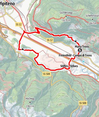 Karte / Zu den Burgen Sprechenstein und Reifenstein bei Sterzing