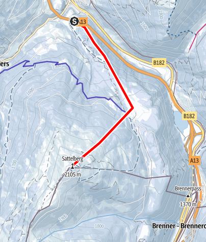 Karte / Sattelbergalm