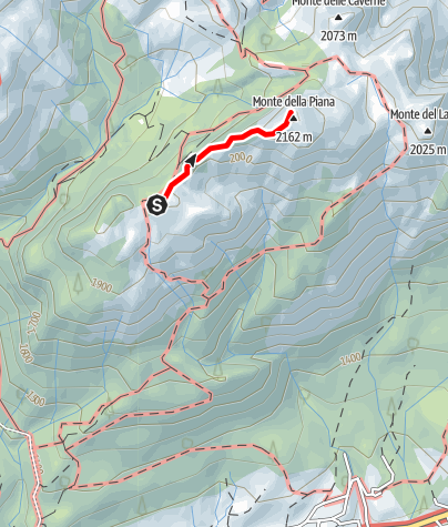 Karte / 23 MONTE PIANA über den Westkamm  - Sappada