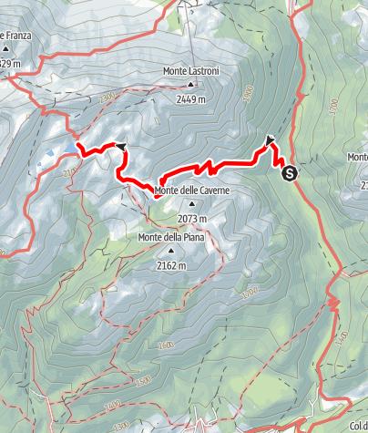 Karte / 27  OLBE-SEEN über die Talmulde des Rio della Miniera - Sappada