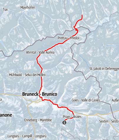 Karte / Ski-Transalp 2014 (Cortina nach Kufstein) Tag3
