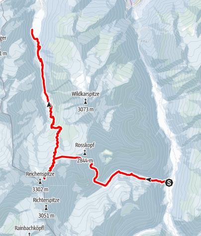 Karte / Ski-Transalp 2014 (Cortina nach Kufstein) Tag4