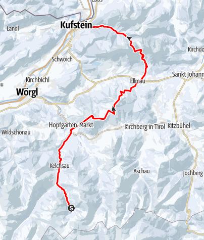 Karte / Ski-Transalp 2014 (Cortina nach Kufstein) Tag6