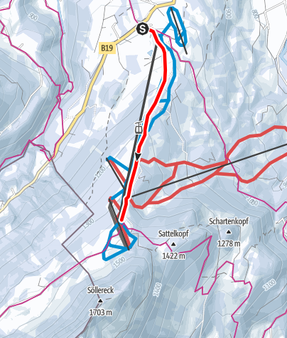 Karte / Pistentour am Söllereck