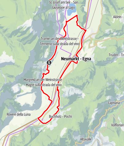 Karte / Weinradroute Süd, Wein & Rad: Gewürztraminer & Blauburgunder