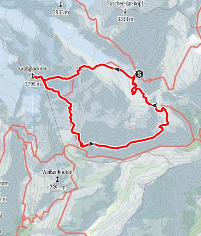 Karte / Großglockner über Meletzkigrat von der Franz-Josefs-Höhe