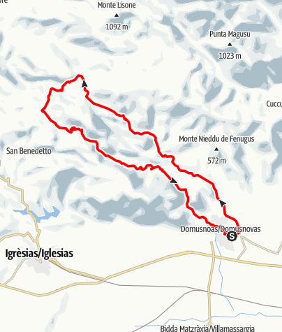 Karte / Domusnovas-Malacalzetta Anello, nov/2019