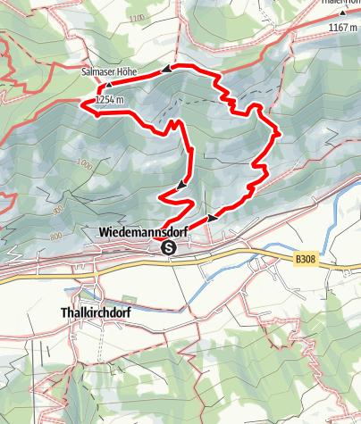 Karte / Über die Salmaser Höhe