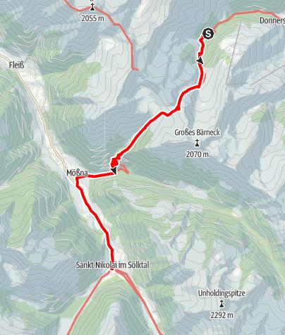 Karte / 02 Zentralalpenweg Ost, E21: Mörsbachhütte - St. Nikolai im Sölktal