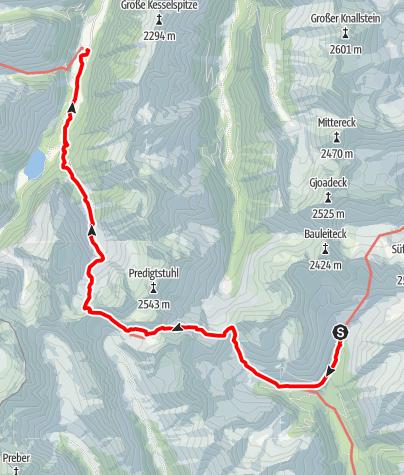 Karte / 02 Zentralalpenweg Ost, E23: Rudolf-Schober-Hütte - Breitlahnhütte