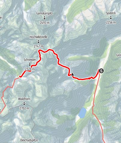 Karte / 02 Zentralalpenweg Ost, E24: Breitlahnhütte - Preintalerhütte
