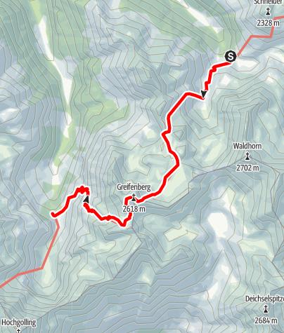 Karte / 02 Zentralalpenweg Ost, E25: Preintalerhütte - Gollinghütte