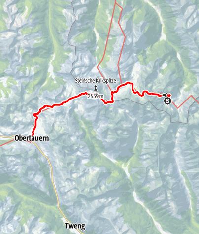 Karte / 02 Zentralalpenweg Ost, E27: Keinprechthütte - Obertauern