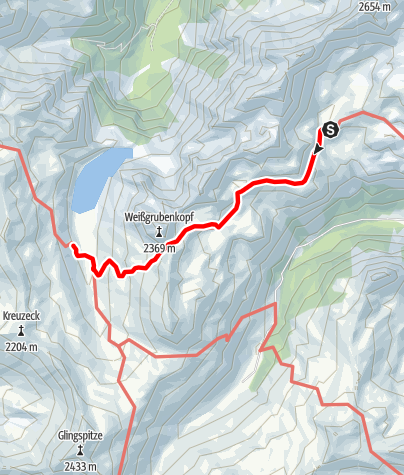 Karte / 02 Zentralalpenweg Ost, E30: Franz-Fischer-Hütte - Tappenkarseehütte