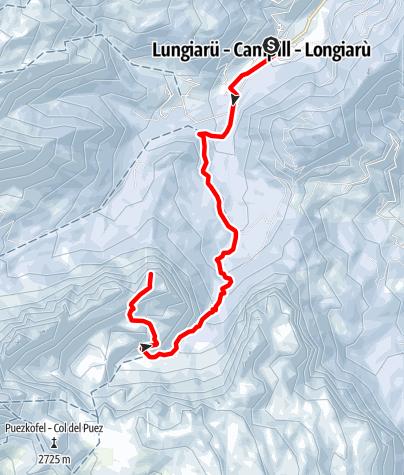 Karte / Skitouren zum Zwölferkofel