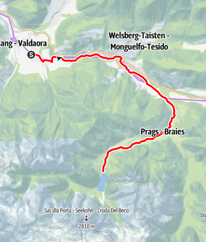 Map / From Valdaora to the Lake of Braies