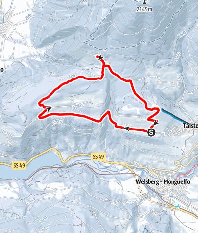 Karte / Schneeschuhtour: Taistner Unterrain