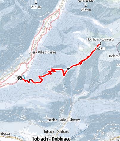 Karte / Skitour: Hochhorn in Pichl/Gsieser Tal