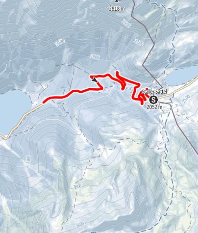 Karte / Rodelweg Staller Sattel