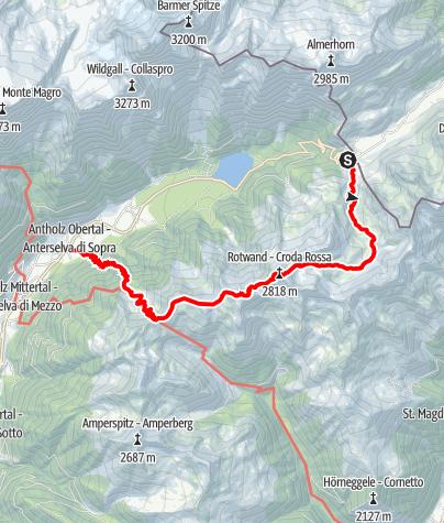Karte / Bergtour: Rotwand 2.818m