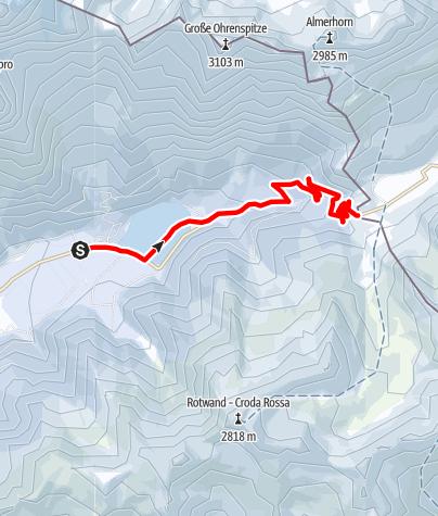 Karte / Skitour zum Staller Sattel