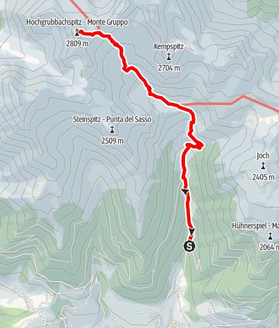 Karte / Bergtour zur Hochgrubbachspitze