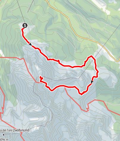 Map / Via Ferrata - Croda Rossa
