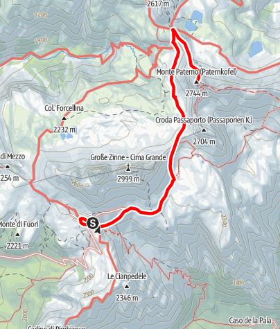Map / Via Ferrata - Paternkofel