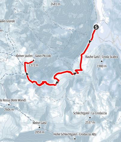 Karte / Skitour Kleiner Jaufen