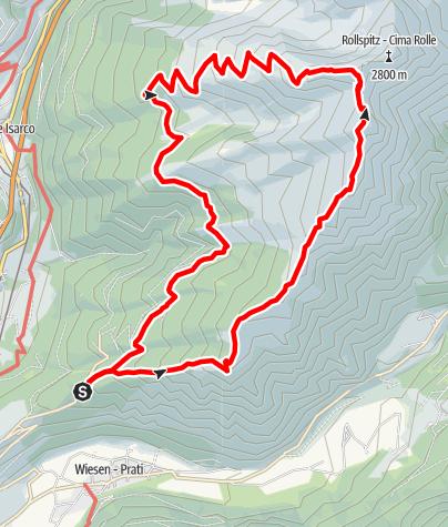 Karte / Rundtour: Saun-Weißspitze-Amthorspitze