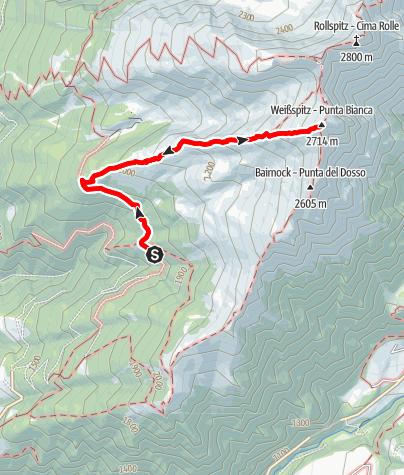 Karte / Bergtour auf die Weißspitze