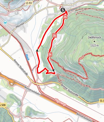 Karte / Von Wiesen zur Burg Sprechenstein