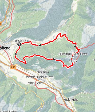 Karte / Von Wiesen zum Höllenkragen