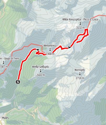 Karte / Von Niederflans zum Wilden See