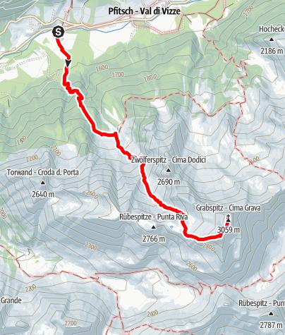 Karte / Auf die Grabspitze