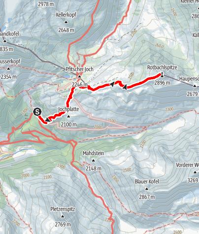 Karte / Auf die Rotbachlspitze