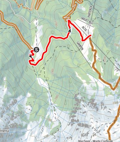 Karte / Verbindungsweg-Tarscher-Latscher-Alm