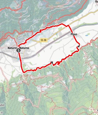 Karte / Rittersteig Naturns
