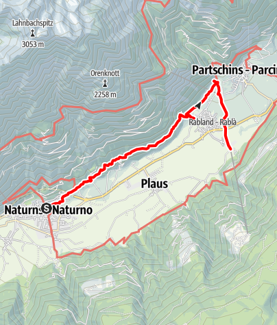 Karte / Sonnenberger Panoramaweg in Naturns