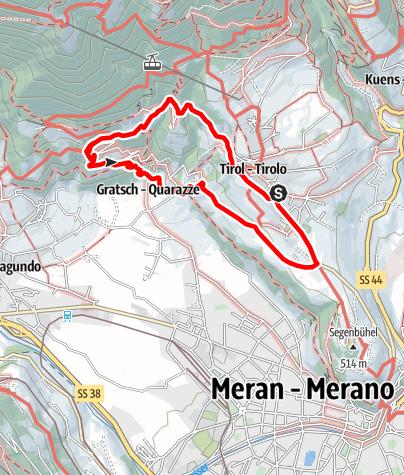 Cartina / Escursione a Castel Torre