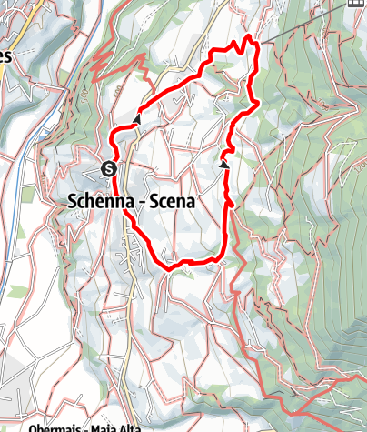 Map / Hike along the Schenner Waalweg Trail